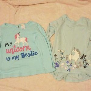 Girl's Long Sleeve Unicorn Shirts size 5T / 5
